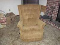 Tan recliner for sale, asking for $15 OBO. Must go