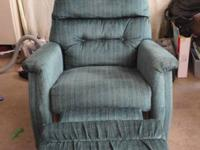 Blue/Green Recliner chair. We purchased it from a buddy