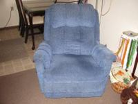 A nice blue recliner in very good condition. If