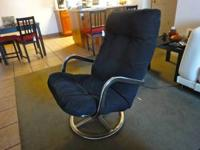 Black recliner chair. Like new!! Call: Alan  Location: