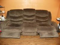 recliner couch for sale...chocolate/brown