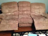 I have a micro suede reclining couch for sale. The
