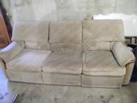 Each end of the couch reclines, not real smooth but