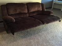 Reclining super comfortable couch! Bought in December