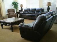 chocolate LIVING ROOM SET: COUCH/SOFA, LOVESEAT AND