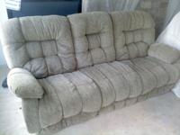 I am selling a two piece sofa and chair set. It is five
