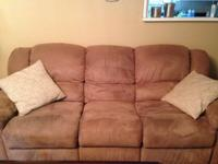 Reclining sofa and loveseat for sale--Sofa $250,
