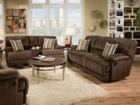 Rhino Beluga Reclining Sofa & Loveseat.  The roomy