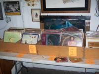 vintage vinyl at our furniture store, tons of recently