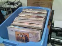 3 Storage Tubs full of 70's Records, lots of