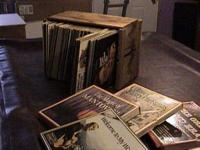 Description for sale 10 boxes of records. There is