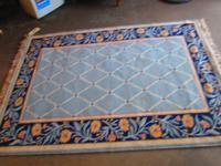 RECTANGLE AREA RUG - $28 PREDOMINANTLY BLUE IN COLOR
