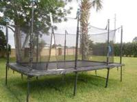 In percect condition 3 year old rectangle trampoline.