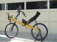 Bacchetta Giro 26 recumbent bicycle. Standard frame.