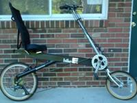 Matte-black Bike-E recumbent bicycle in very clean and