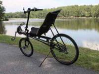Short wheelbase recumbent bicycle. 2004 model with 141