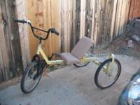 Recumbent bike needs some tlc. Comfortable to ride. $75