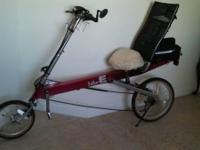 Selling this Recumbent bike (Bike E) because we don't