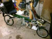 Recumbent Bike E, like new, full suspension. This bike