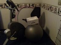 Universal fitness recumbent exercise bike. And core