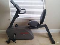 Recumbent Exercise Bike Works PERFECT! Features