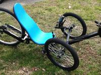 for sale is a custom made recumbent trike. this trike