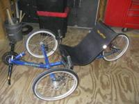 For sale is a recumbent trike. Made by Terra Trike is