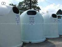HUGE RECYCLE BINS FOR SALE TO BE USED FOR HUNTING BLIND