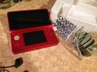 red 3ds in great condition! Includes Super Mario 3dland