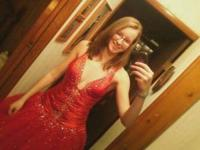 I'm selling my Red Alyce Designs prom dress. I wore it