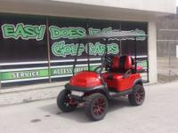 Look Sharp in this Club Car Precedent Golf Cart! Custom