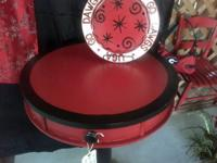 Red and Black Pub Height Table Perfect for your VSU,
