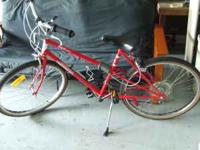 Red Bike, probably needs new chain. $35 obo. Call Randy