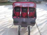 Selling our side-by-side BebeLove triple stroller for