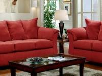 High Quality and Beautiful Red Brick Sofa and Loveseat