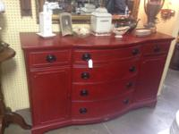 This is a very nice painted and distressed red buffet.