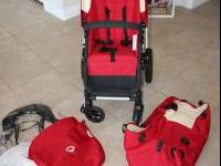 RED BUGABOO FROG STROLLER GREAT CONDITION 2 YEARS OLD -