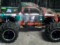 1/5 scale gas rc truck huge truck with lots of hop ups