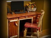 For sale is a handmade red cedar desk with chair. This