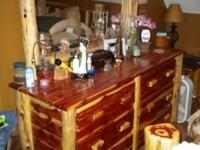 For sale is a handmade red cedar king size bedroom set.