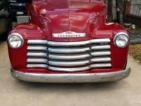 Red Chev 1951. Clean tile runs good needs of bit of