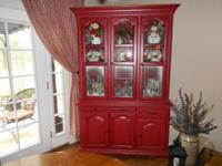 For sale red china hutch. $250 Call  // //]]> Location: