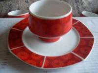Nice set of Red Dishes. Includes 8 Plates and 7 Bowls.