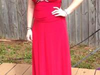 Long red prom, ball, evening gown dress size 5/6 This