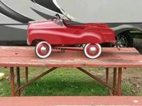 """COME AND GET IT""  RED GEARBOX PEDAL CAR  Very Cool"