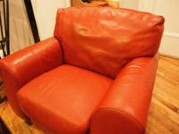 Beautiful large Italian leather chair for sale! Very