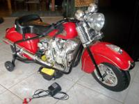 Red Kids 6v Electric Ride On 1948 Indian Power