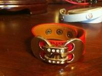 Never worn, brand new leather bracelet from All About