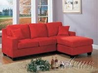 Brand new, never used. Red Microfiber sofa with