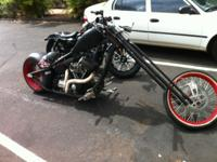 Custom built Red Neck Chopper 250 rear end Sick bike,
